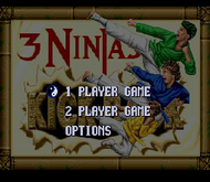 3 Ninjas Kick Back: Title (SNES)