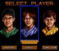 3 Ninjas Kick Back: Player Select (SNES) Screenshot