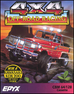 4x4 Offroad Racing - C64 Box Art