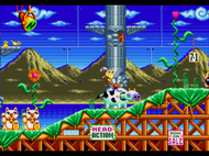Dynamite Headdy Mega Drive ingame Screenshot