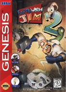 Earthworm Jim 2 Genesis cover