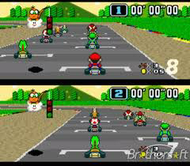 Super Mario Kart SNES Ingame Screenshot