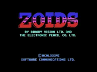 Zoids - Title (C64) Screenshot