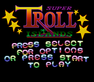 Super Troll Islands: Title (SNES)