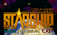 Command Adventures: Starship - Title