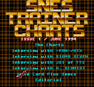 SNES Trainer Charts 06/94 Screenshot