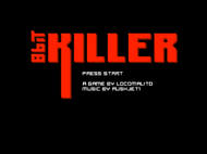 8bit killer Title Screenshot