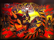 Black Knight 2000 backglass Screenshot