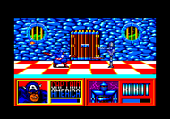 Captain America c64 Ingame Screenshot