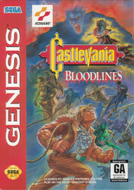 Castlevania Bloodlines Genesis cover
