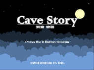 Cave Story (WiiWare) Title Screen