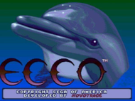 Ecco The Dolphin - Genesis Title Screen