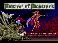 Master of Monster MD Title Screen Screenshot