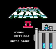Mega Man 2 - Title Screen - NES