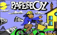 Paperboy c64 Title Screen Screenshot