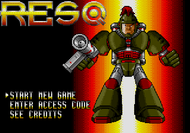 Resq Mega Drive title screen Screenshot