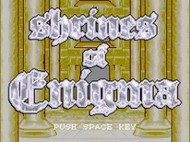 Shrines of Enigma - Title Screen Screenshot