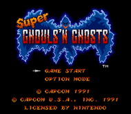 Super Ghouls n Ghosts SNES Titlescreen