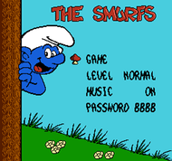 The Smurfs NES Title Screen