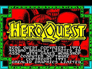 Hero Quest - Title Screen - Spectrum Screenshot