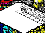 Hero Quest - Ingame Screen - Spectrum Screenshot