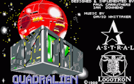 Quadralien - Title - Amiga Screenshot