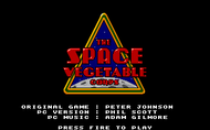 Space vegetable corps title screen DOS