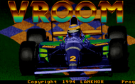 Vroom - title screen - pcdos
