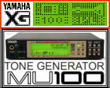 Yamaha MU100 and VL (LCD symbols)